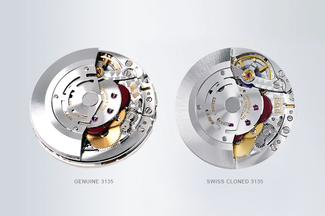 100% Identical Swiss Clone 3135 Watches