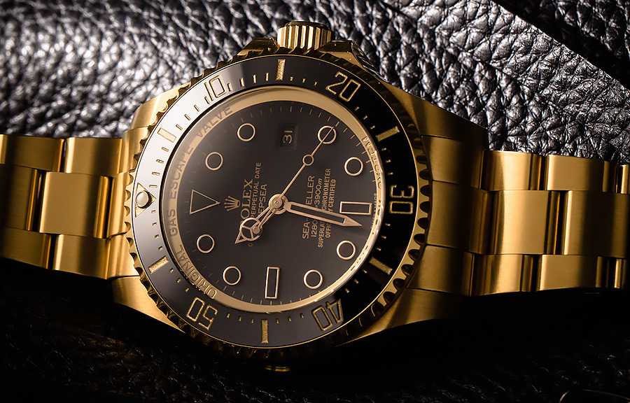 Rolex DeepSea: Gold DLC with Solid 18k Yellow Gold | Swiss Replica