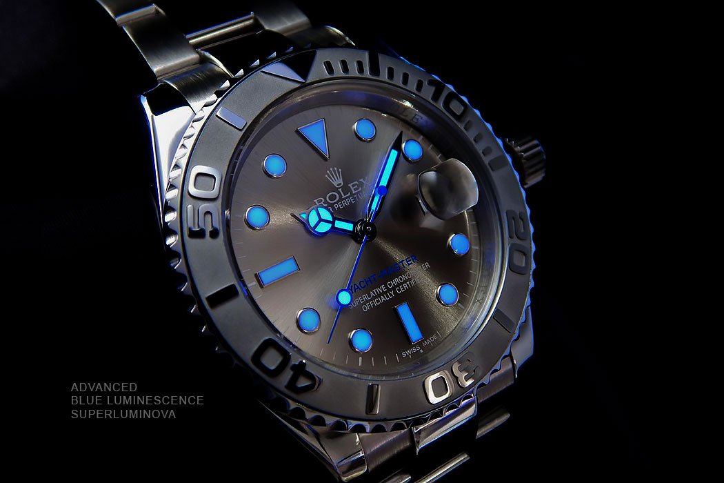 Advanced Blue Luminescence Super Luminova Replica Rolex Watches