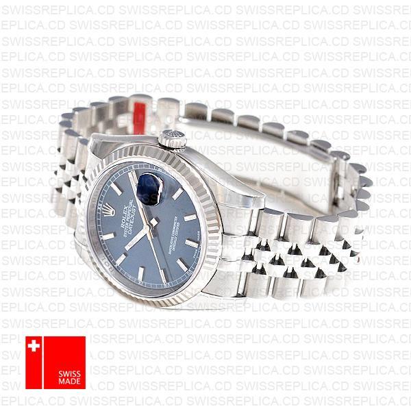 Rolex Datejust 36 Jubilee Blue Dial Fluted Bezel Stick Markers 36mm 116234 Swiss Replica