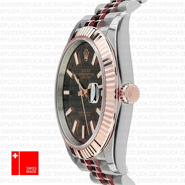 Rolex Datejust 41 Chocolate Jubilee Dial | Two Tone Swiss Replica Watch