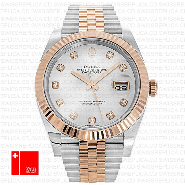 Rolex Datejust 41 White Dial Jubilee Bracelet | Diamond Replica Watch