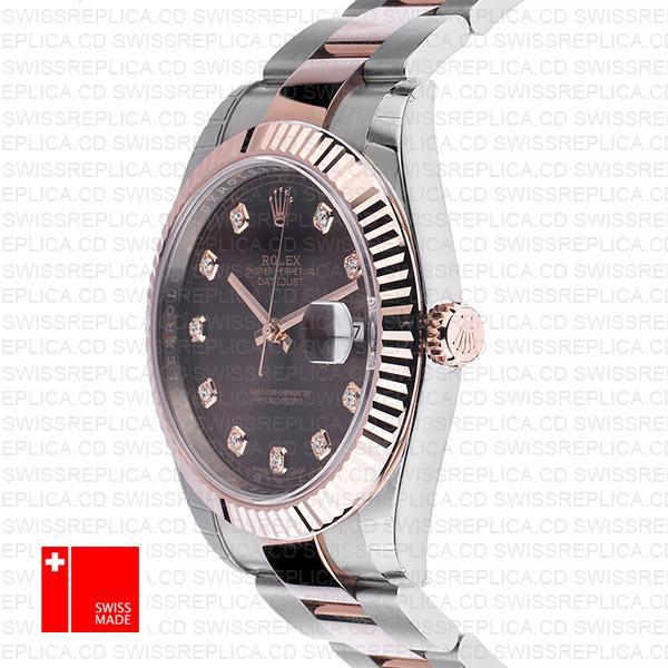 Rolex Datejust 41 Two Tone | 18k Rose Gold Chocolate Dial Replica Watch