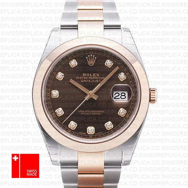 Rolex 126301 Datejust 41 | Chocolate Dial with Moissanite Diamond Watch