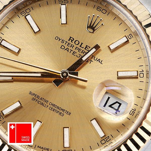 Gold Dial 2 tone Replica Watch