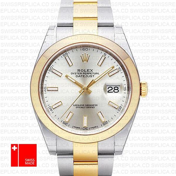 Rolex Datejust 41 Two Tone Replica Watch | 18k Yellow Gold/904L Steel