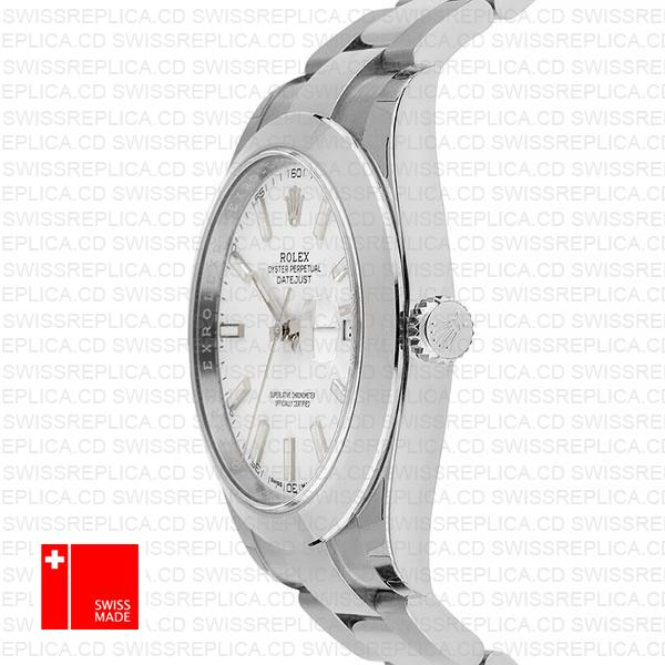 Rolex Datejust 41 White Dial Oyster Bracelet | Exact Replica Watch