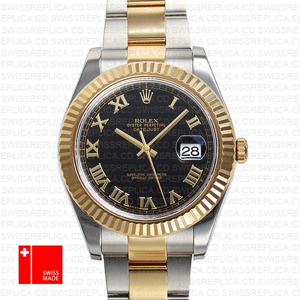 Rolex Oyster Datejust II 2-Tone 18k Yellow Gold/904L Steel Replica Watch