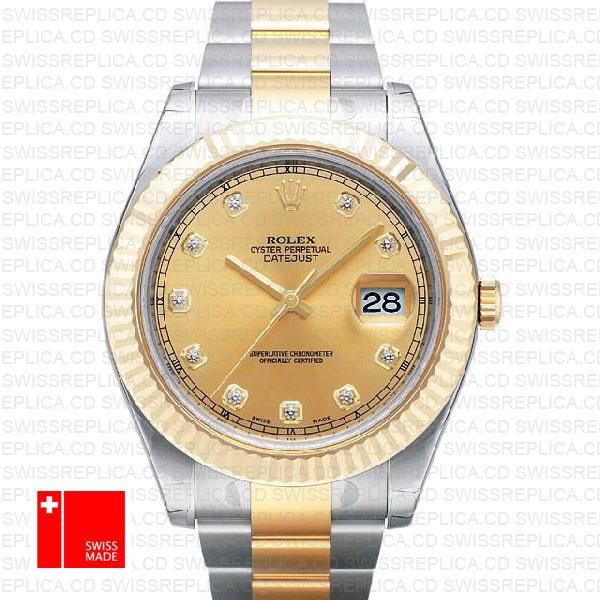 Rolex Oyster Datejust II 41mm (116333) 2-tone Swiss Replica Watch