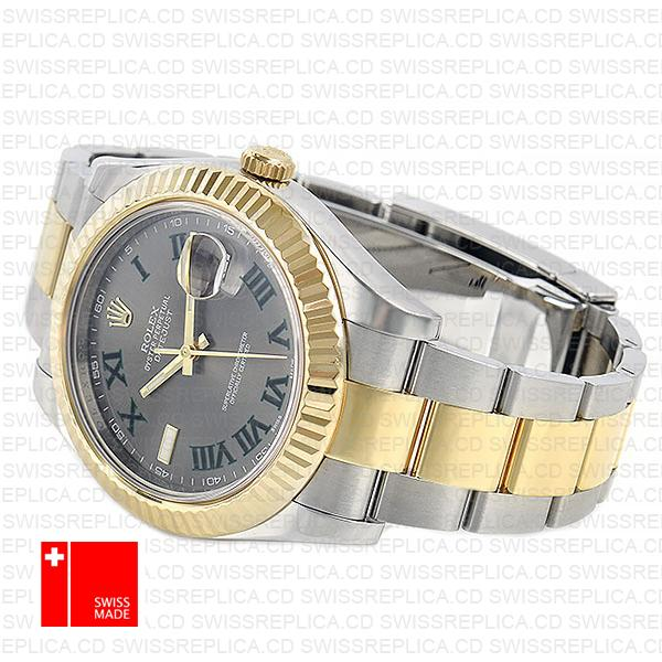 Rolex Datejust II 41mm Grey Dial & Roman Markers | Swiss Replica Watch