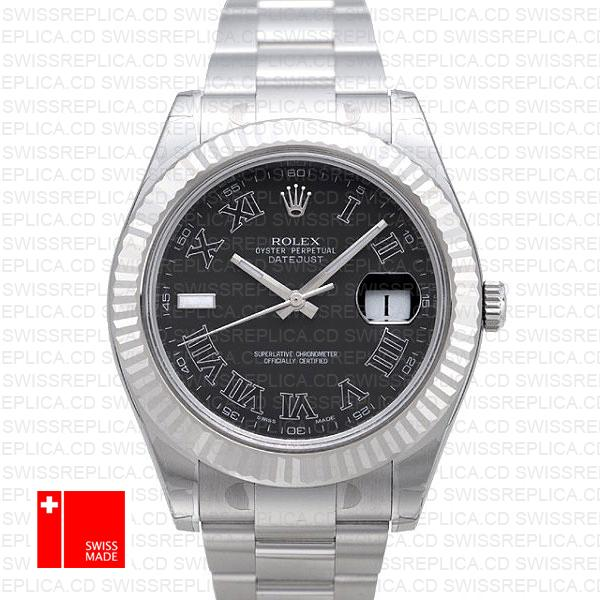 Rolex Datejust II Silver Dial Roman Markings 41mm Swiss Replica Watch