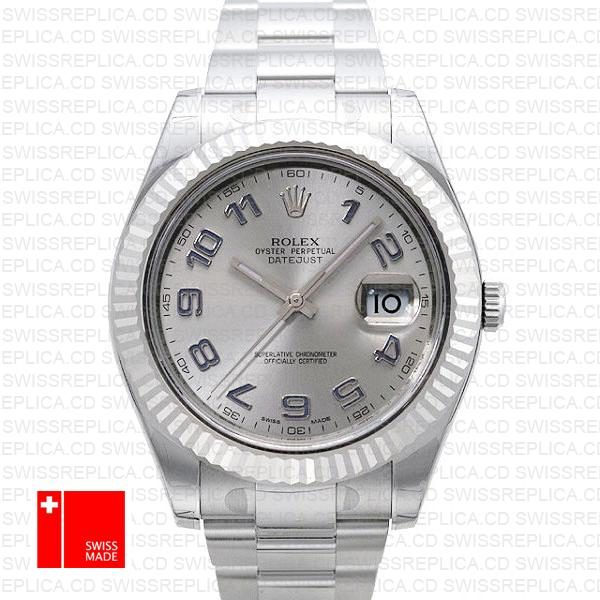 Rolex Datejust II Silver Dial Blue Arabic Numerals | Swiss Replica Watch