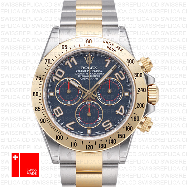 Rolex Daytona 2 Tone Blue Arabic 40mm 116523