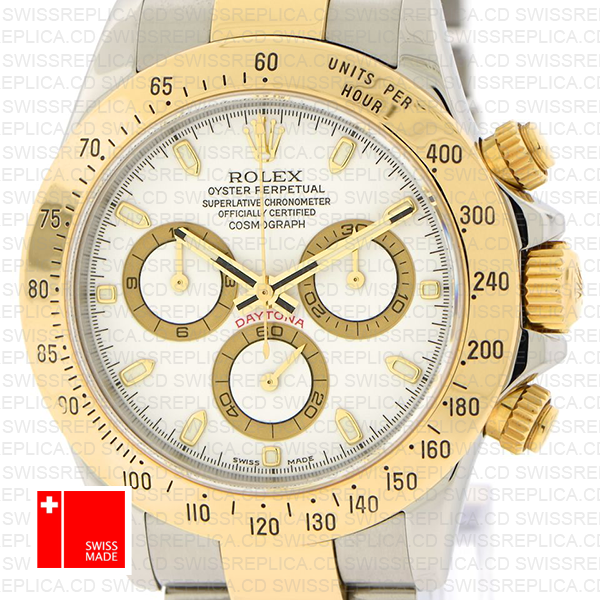 Rolex Daytona 2 Tone White 40mm 116523