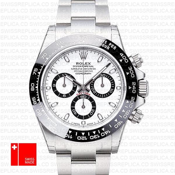 Rolex Daytona 2016 Ss White Ceramic Bezel 116500 40mm Replica