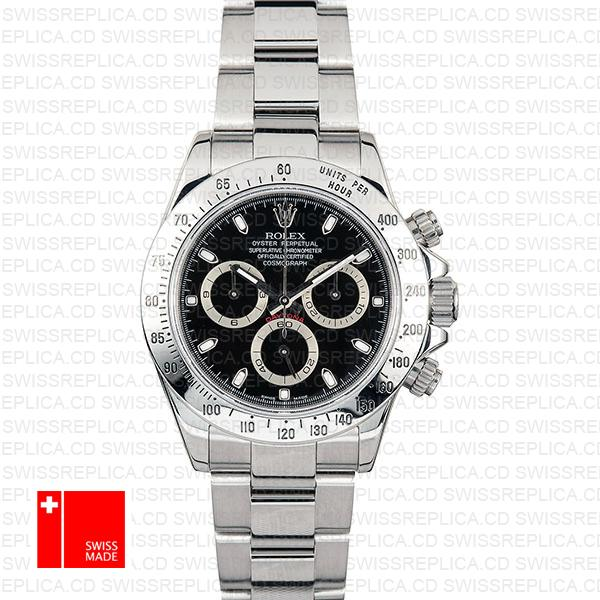 Rolex Daytona Black 116620 40mm Swiss Replica