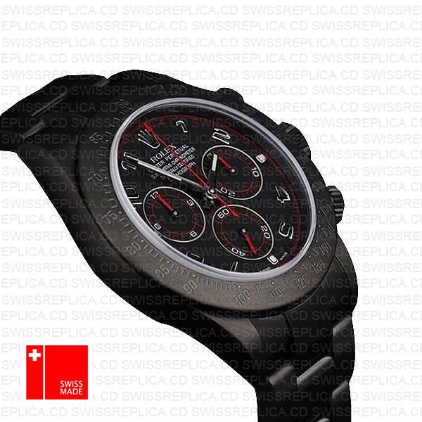 Rolex Daytona Black Dlc Arabic Red 116509