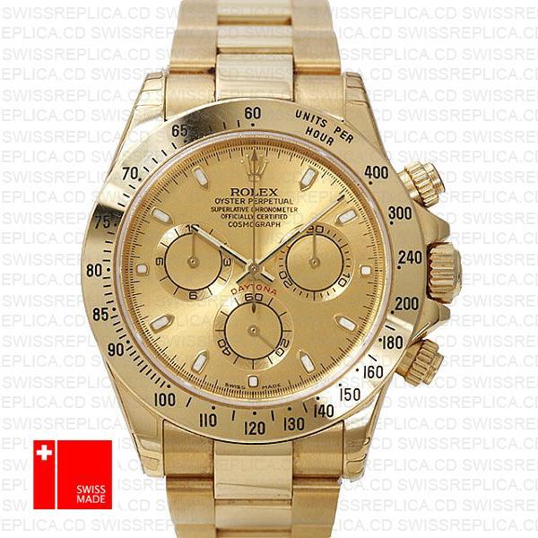 Rolex Cosmograph Daytona Yellow Gold | Gold Dial Swiss Replica Watch
