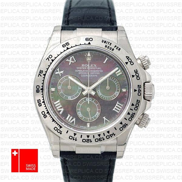 Rolex Cosmograph Daytona Black Mop Dial Roman Markers Rolex 116519