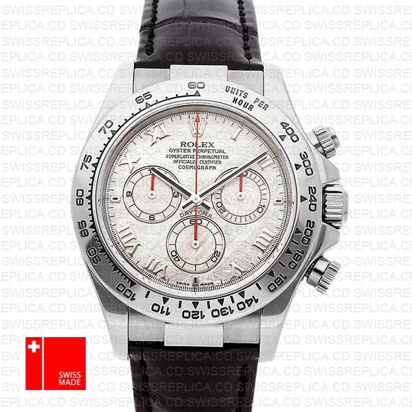 Rolex Cosmograph Daytona White Gold Meteorite Dial   Replica Watch