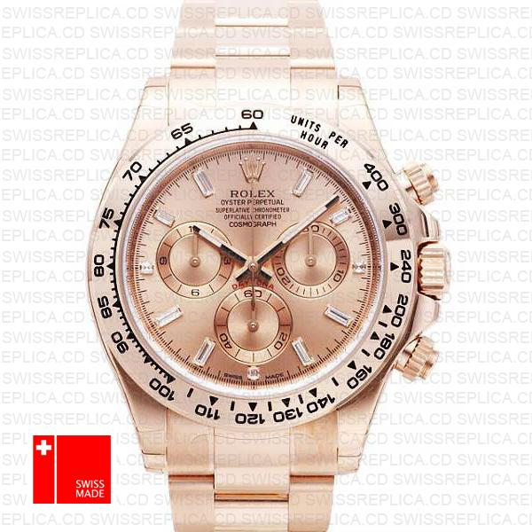 Rolex Cosmograph Daytona Rose Gold Pink Dial | Diamond Replica Watch