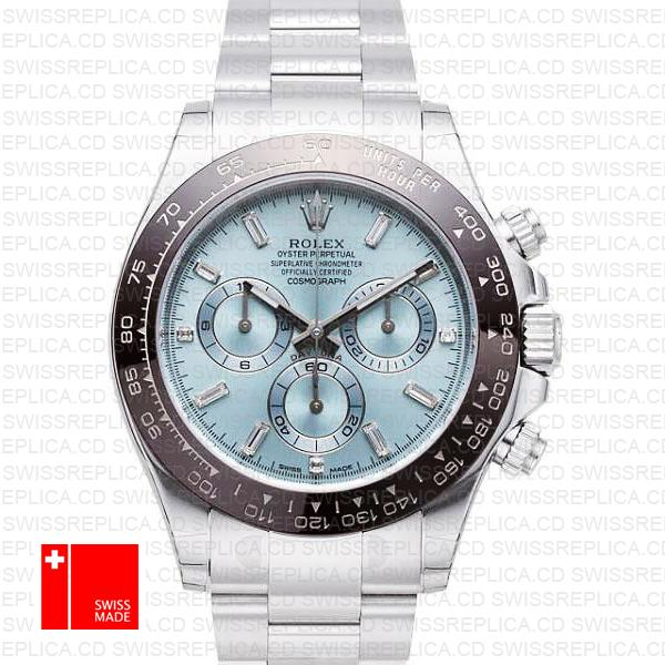 Rolex Cosmograph Daytona Ice Blue Dial | Platinum Swiss Replica Watch