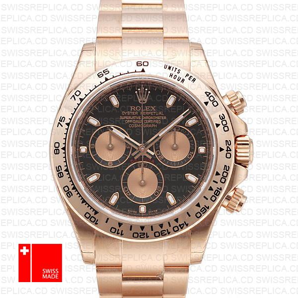 Rolex Daytona Rose Gold Black 40mm 116505
