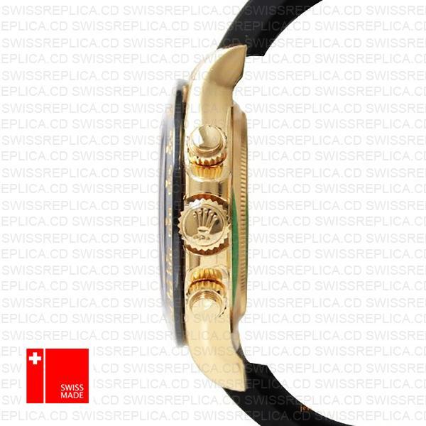 Rolex Daytona Rubber 18k Yellow Gold Ceramic Bezel 40mm 116518
