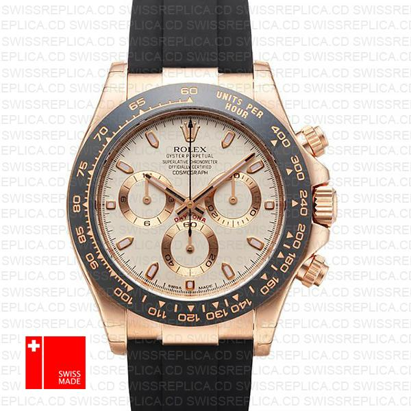 Rolex Cosmograph Daytona Rose Gold | Rolex Rubber Strap Watch
