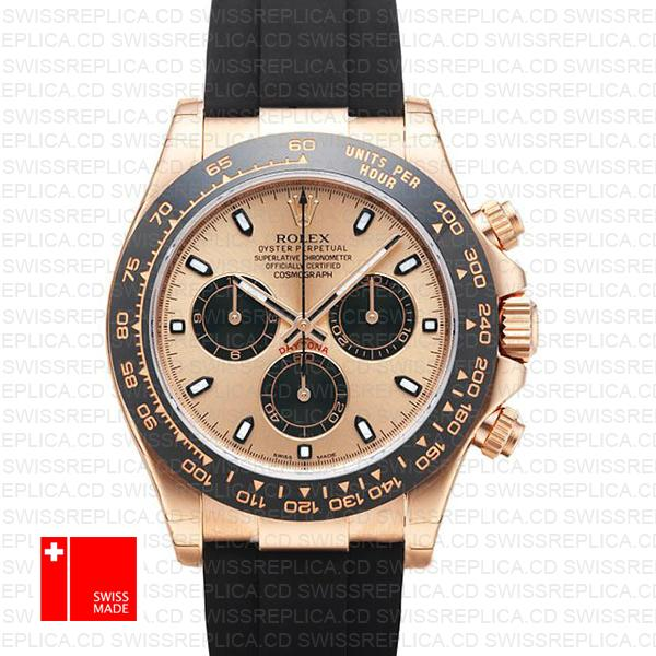 Rolex Cosmograph Daytona Rose Gold Pink Dial | Swiss Replica Watch
