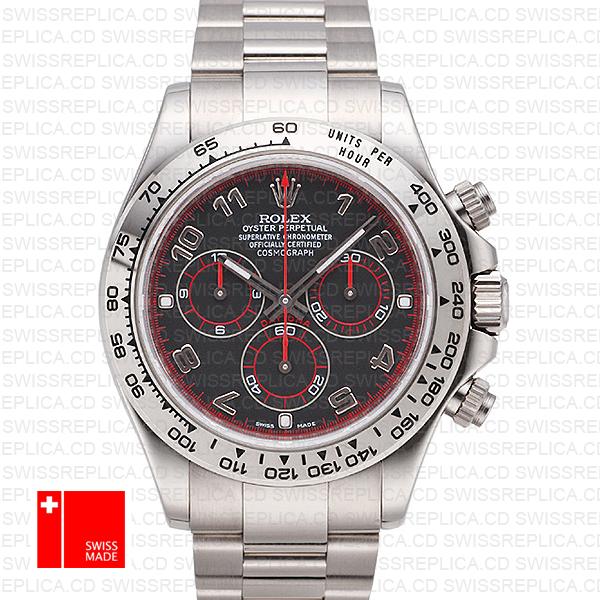 Rolex Cosmograph Daytona Black Dial White Gold | Rolex 116509 Watch
