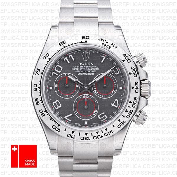 Rolex Cosmograph Daytona White Gold & 904L Steel | Daytona Grey Dial