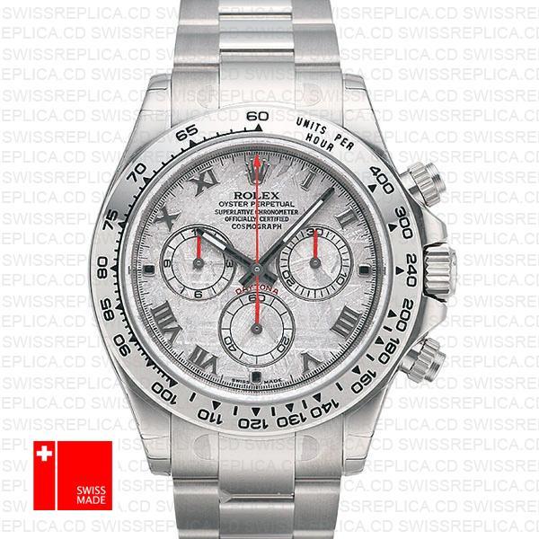 Rolex Cosmograph Daytona White Gold Meteorite Dial | Replica Watch