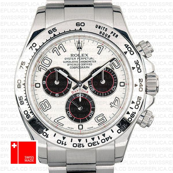 Rolex Daytona Ss White Gold White Arabic 2005 40mm 116509