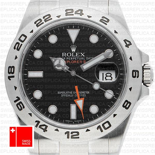 Rolex Explorer Il 216570 Black Dial Watch with 904l Stainless Steel 42mm | Swiss Replica Rolex Watches