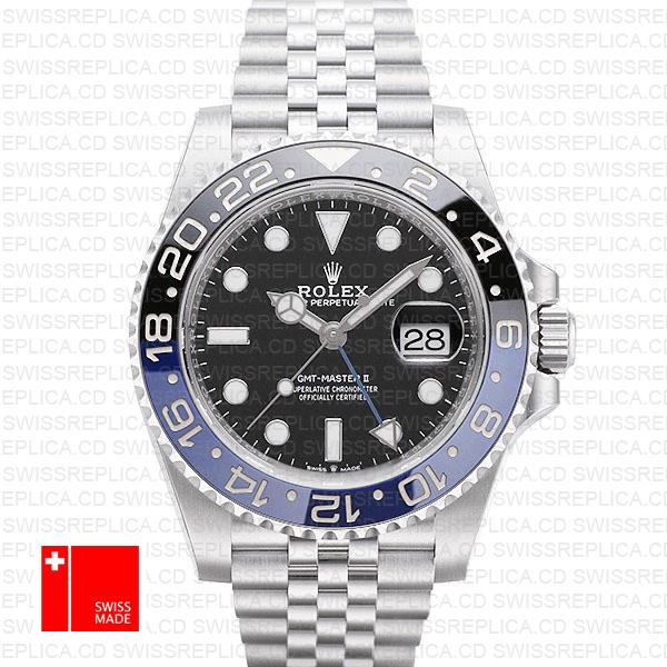Rolex GMT-Master II Batman | Jubilee Bracelet Swiss Replica Watch