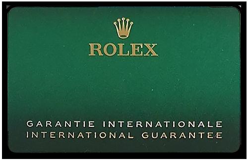 New 2021 Rolex Warranty Card