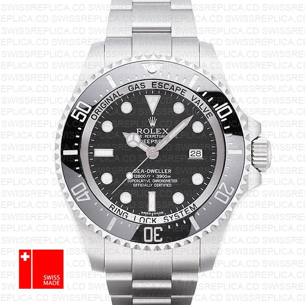 Rolex Deepsea Sea-Dweller 44mm 116660 'Black Dial' Swiss Replica