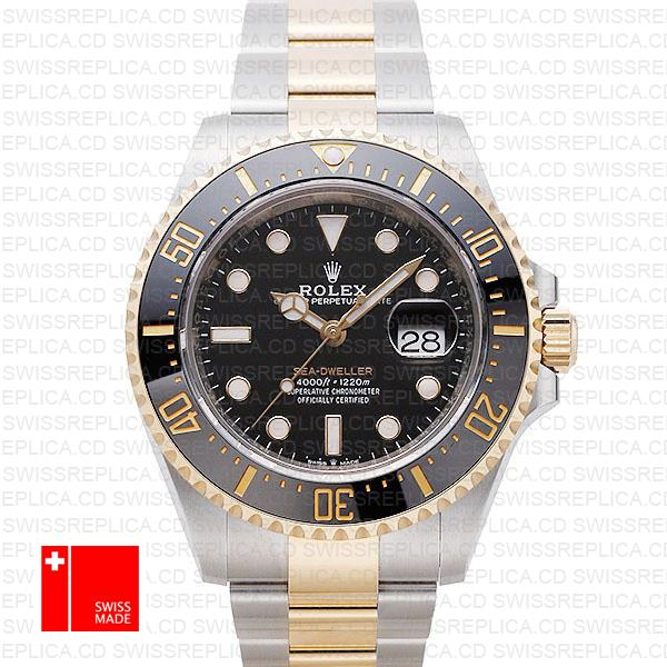 Rolex Sea-Dweller 43: 2 Tone 18k Yellow Gold/904L Steel Replica Watch