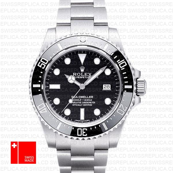 Rolex Sea Dweller Ceramic 4000 Ss 116600 40mm Swiss Replica