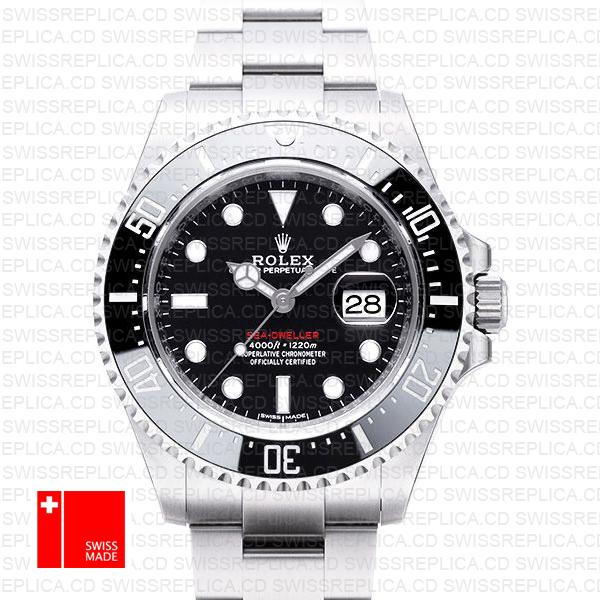Rolex Sea-Dweller 43 126600, 904L Steel 'Black Dial' Swiss Replica Watch
