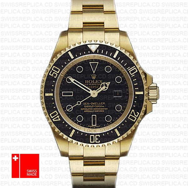 Rolex Sea-Dweller Deepsea 18k Yellow Gold 44mm Swiss Replica Watch