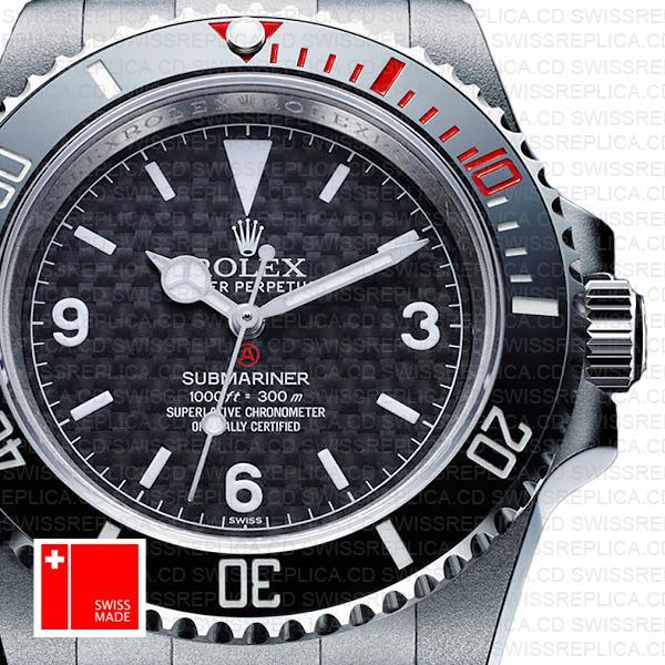 Artisans De Geneve Rough Matte Carbon Rolex Submariner 904l Steel Ceramic Bezel 40mm Swiss Replica Watch