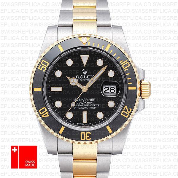 Rolex Submariner 904L Steel & 18k Yellow Gold   Two Tone Rolex Watch