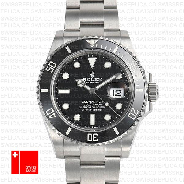 Rolex Submariner 41mm Ceramic Bezel 904l Steel 126610ln Swiss Replica