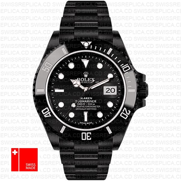 Rolex Submariner Blaken Black Dial | Ceramic Bezel Swiss Replica Watch
