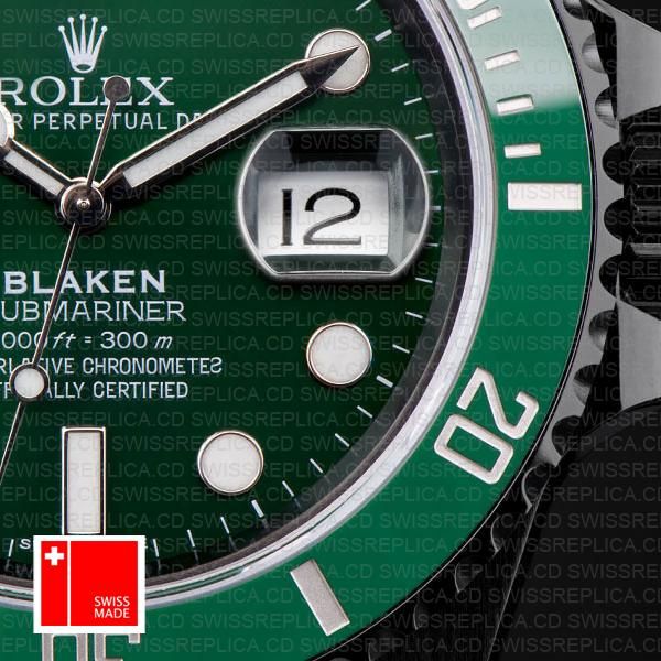 Rolex Submariner Blaken Green Dial Swiss Replica