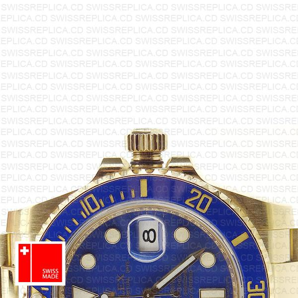 Rolex Submariner Gold Blue Ceramic 40mm 116618