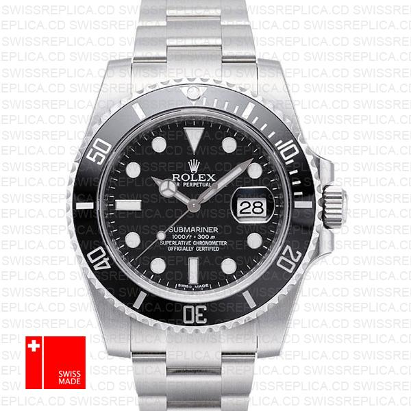 Rolex Submariner Steel Black Dial Ceramic Bezel 40mm 116610