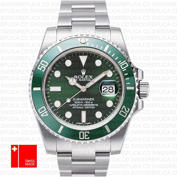 Rolex Submariner Green Dial Ceramic Bezel | Best Swiss Replica Watch
